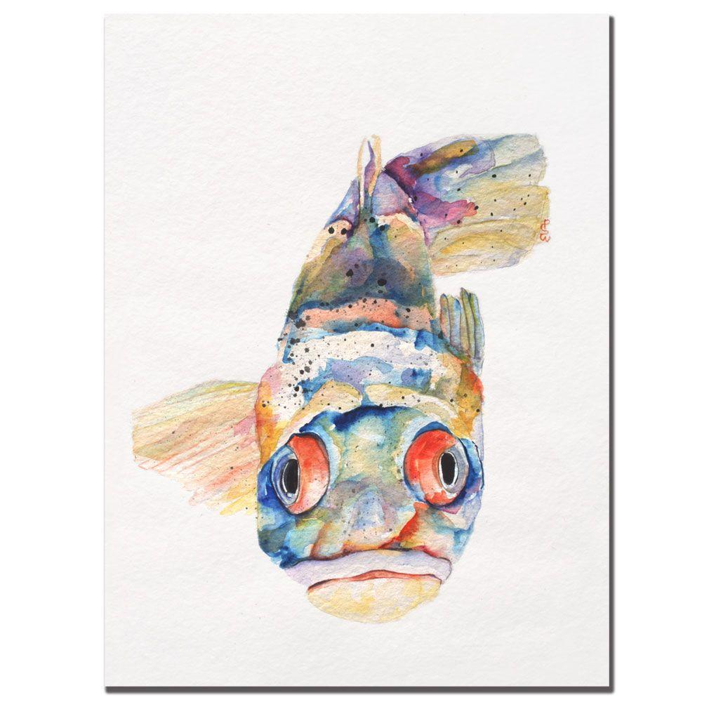 18 in. x 24 in. Blue Fish Canvas Art