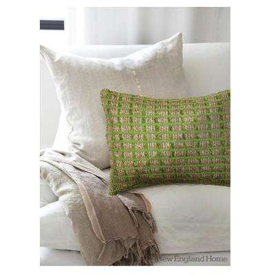 Contemporary Green 16 in. x 24 in. Rectangle Decorative Indoor Accent Pillow