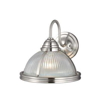 Pratt Street 1-Light Brushed Nickel Wall Sconce