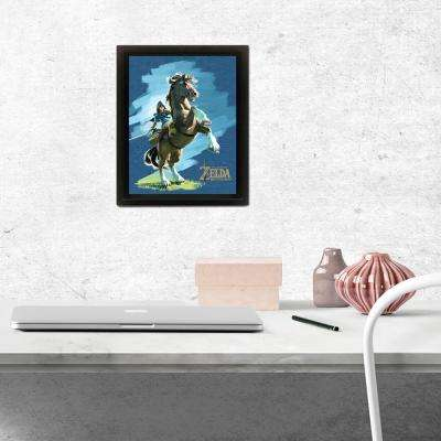 """Zelda - Breath of the Wild - Epona and Link"" Wall Art"