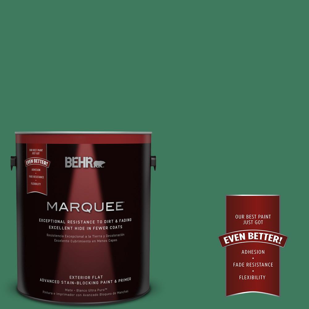 BEHR MARQUEE 1-gal. #470D-6 Greenbelt Flat Exterior Paint