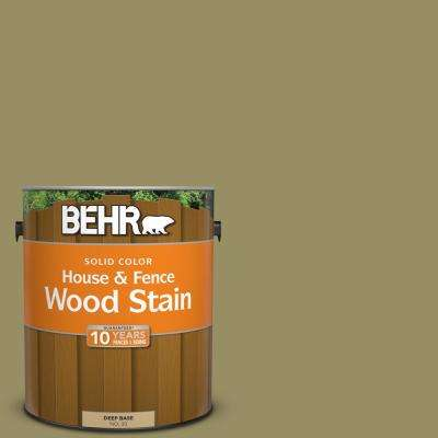 1 gal. #390F-6 Tate Olive Solid Color House and Fence Exterior Wood Stain
