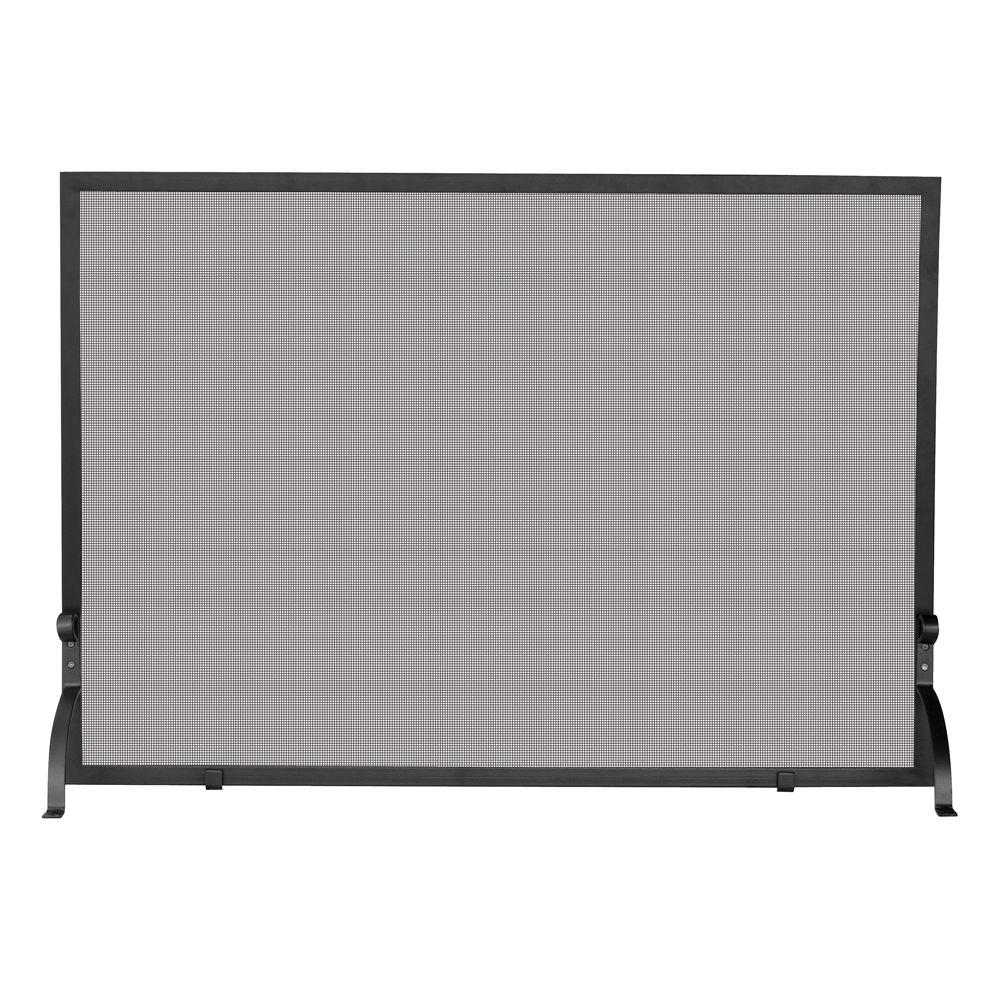 Superbe UniFlame Olde World Iron Single Panel Fireplace Screen, Small