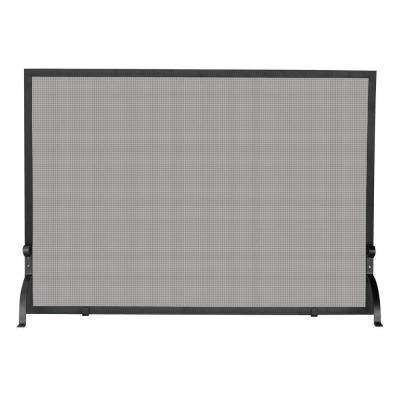Olde World Iron Single-Panel Fireplace Screen, Small