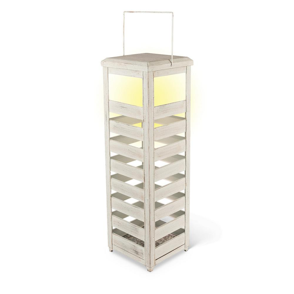 23.5 in. White Boxed Lantern