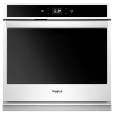 27 in. Single Electric Wall Oven in White
