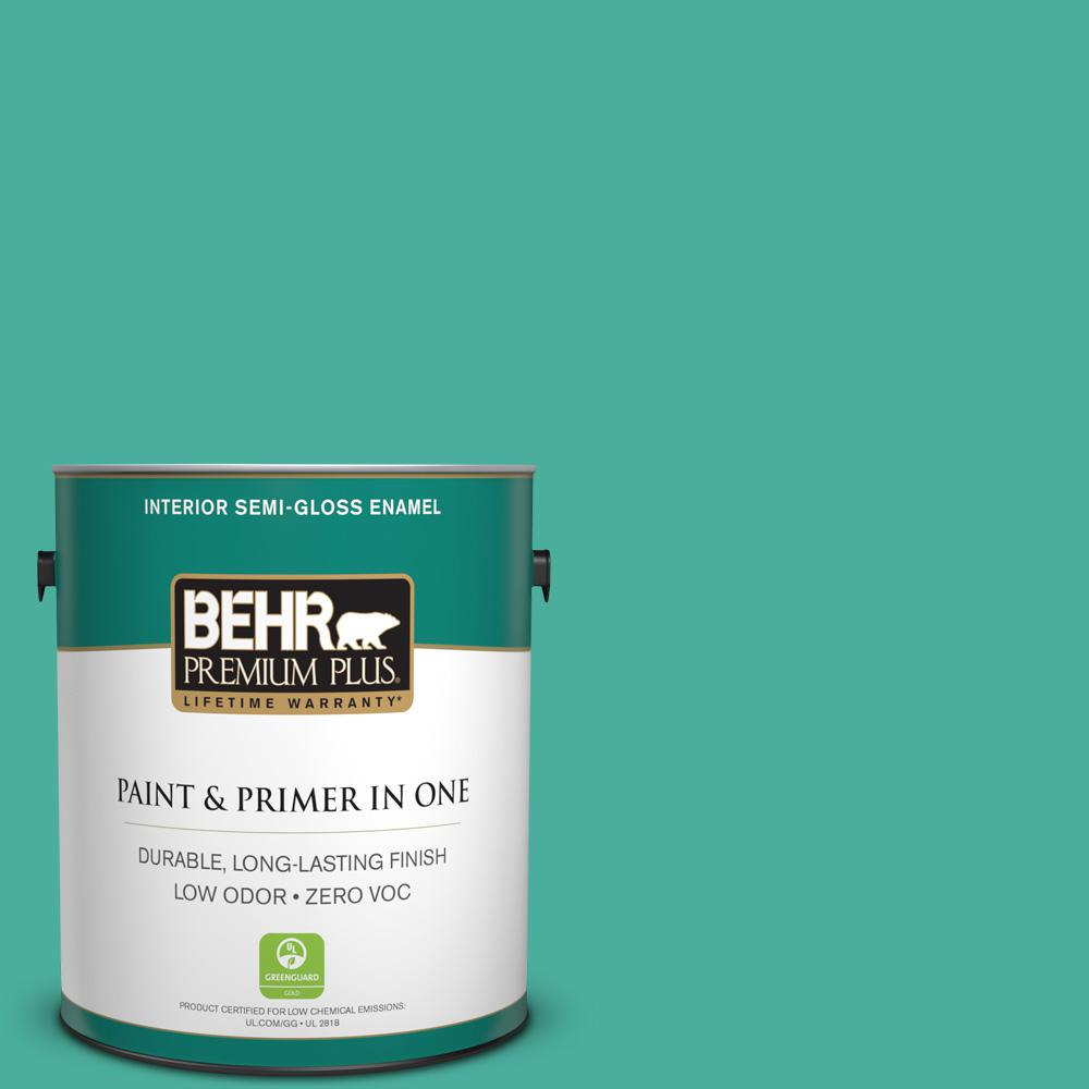 1-gal. #P440-5 Water Park Semi-Gloss Enamel Interior Paint