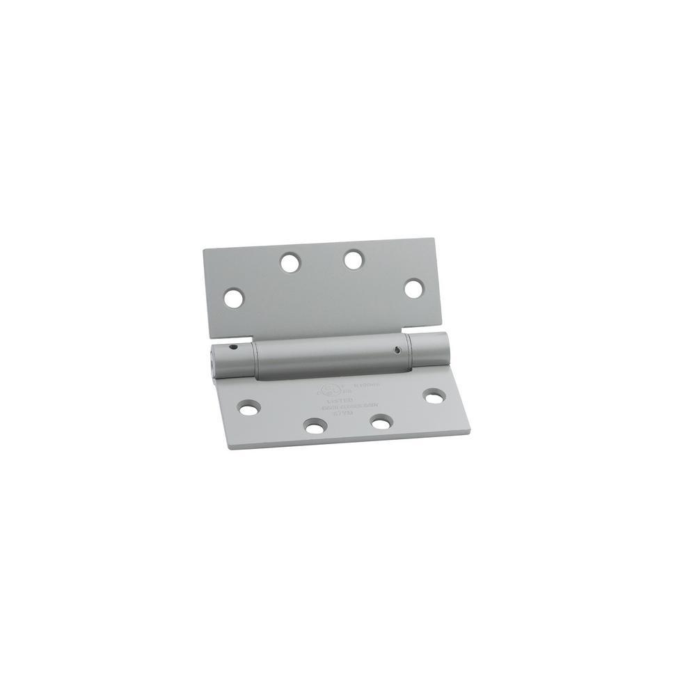 Satin Brass Steel Spring Hinge Set of 3 x 4.5 in Global Door Controls 4.5 in