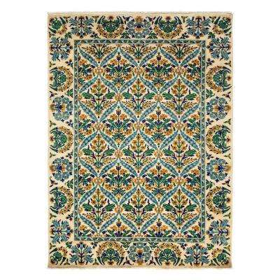 Arts Ivory 6 ft. x 9 ft. Indoor Area Rug