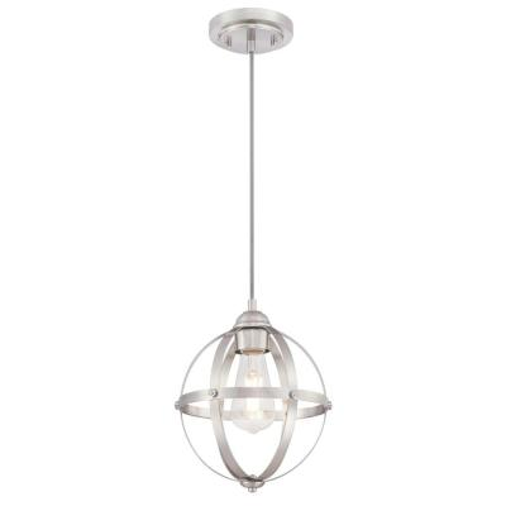 Stella Mira 1-Light Brushed Nickel Mini Pendant