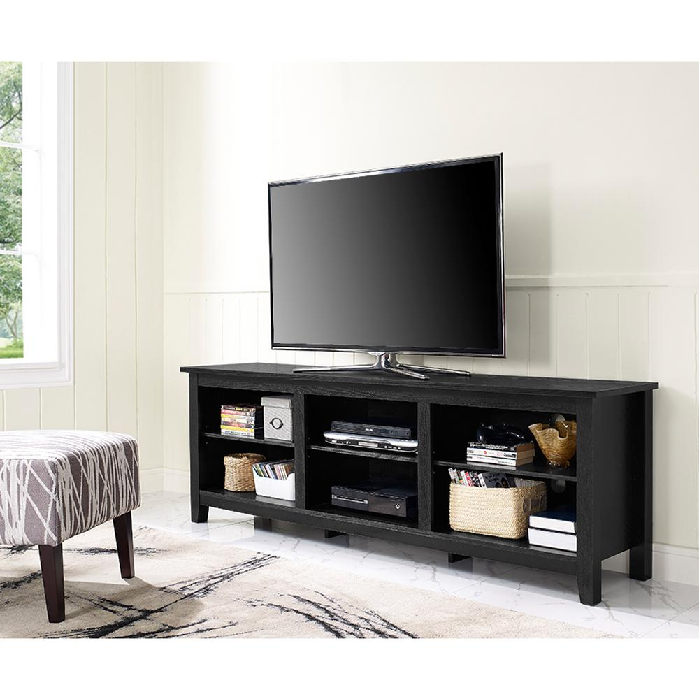 Walker Edison Furniture Company Essential Black Entertainment Center
