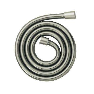 Ecoright 1/2 in. x 63 in. Techniflex Slim Hose in Brushed Nickel