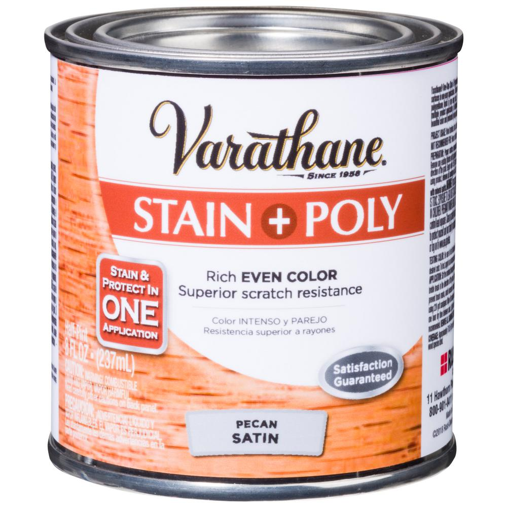 Varathane 8 oz. Pecan Satin Oil-Based Interior Stain and Polyurethane (4-Pack)