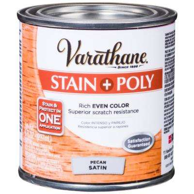 1 hp. Pecan Satin Water-Based Interior Stain and Polyurethane (4-Pack)