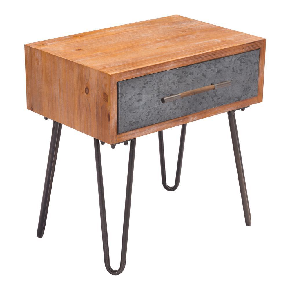 Metal Antique End Table