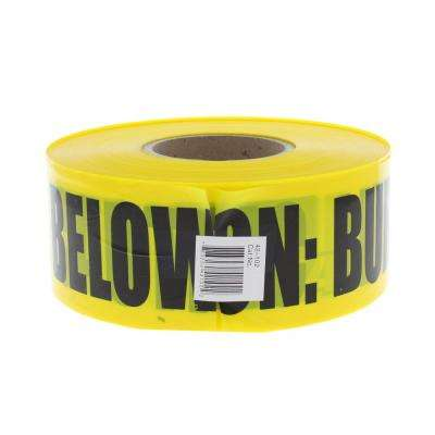 3 in. x 1,000 ft. Buried Electrical Line Caution Tape, Yellow (1 Roll)