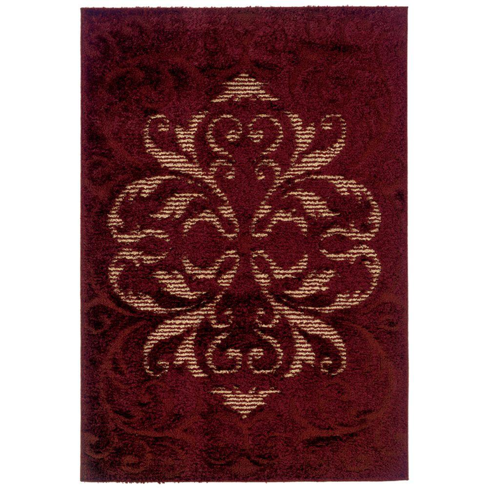 United Weavers Radiance Wine 6 ft. 7 in. x 9 ft. 10 in. Area Rug