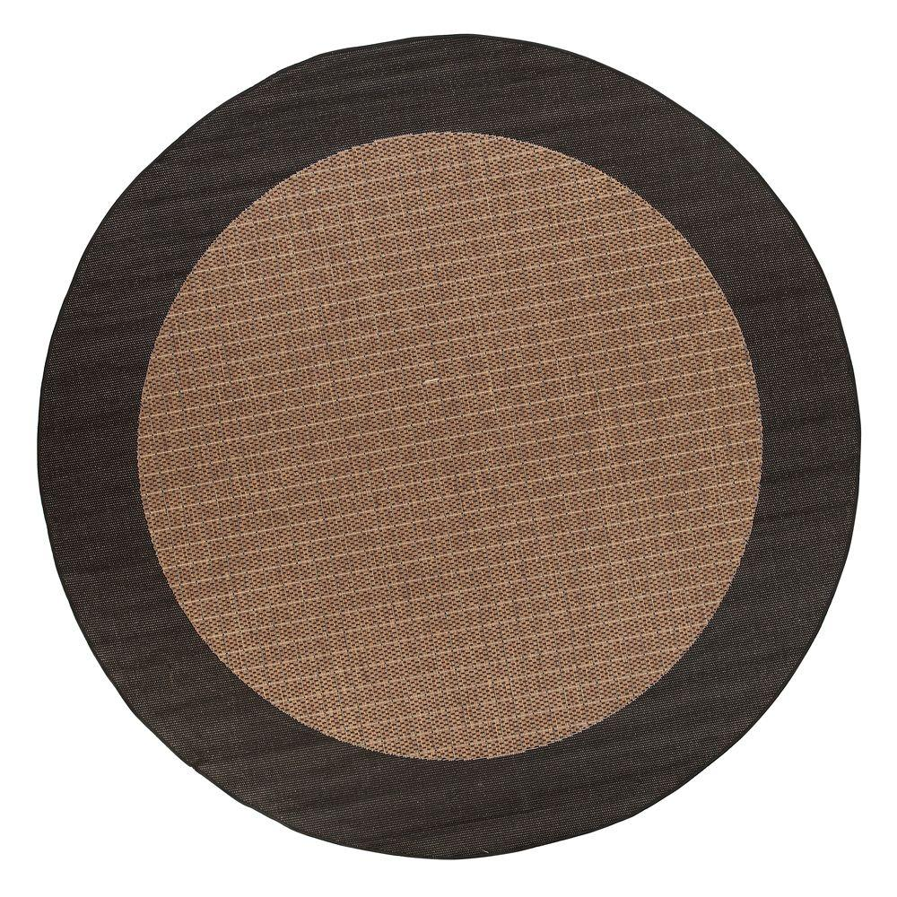 Home Decorators Collection Checkered Field Cocoa 8 ft. 6 in. Round Area Rug