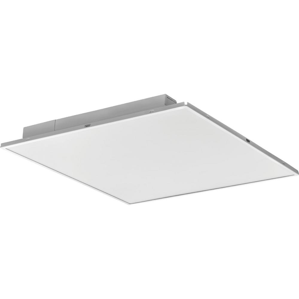 Lithonia Lighting 2 ft. x 2 ft. Fully Luminous White LED Lay-in Troffer with Smooth White Lens