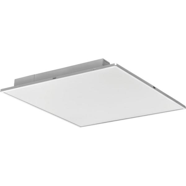 2 ft. x 2 ft. Fully Luminous White Integrated LED Lay-in Troffer with Smooth White Lens