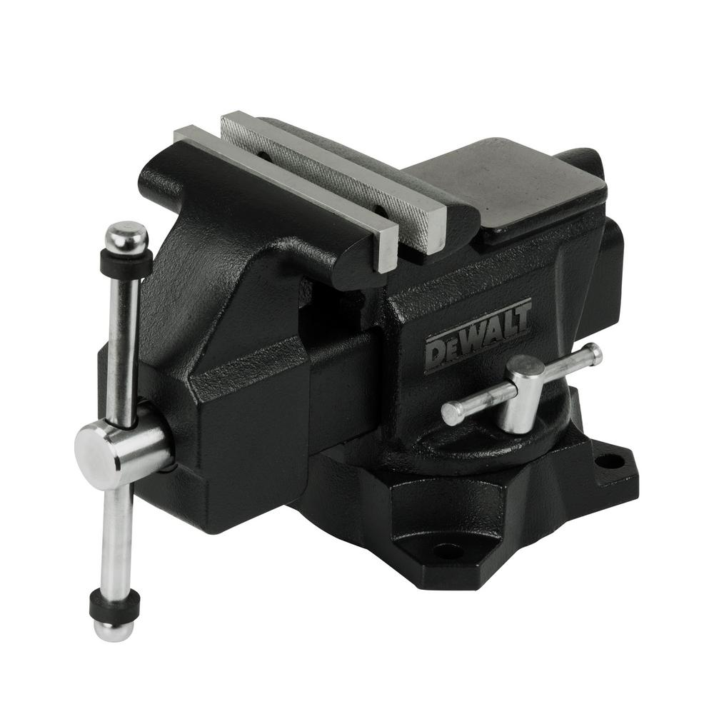 Dewalt 4 5 In Heavy Duty Workshop Bench Vise With Swivel Base