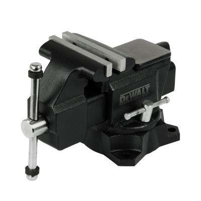 4.5 in. Heavy-Duty Workshop Bench Vise with Swivel Base
