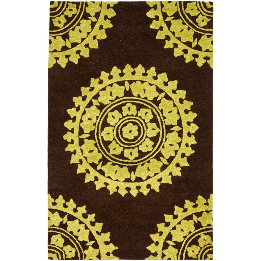 Safavieh Soho Brown/Green 5 ft. x 8 ft. Area Rug