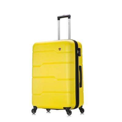 Rodez 28 in. Yellow Lightweight Hardside Spinner
