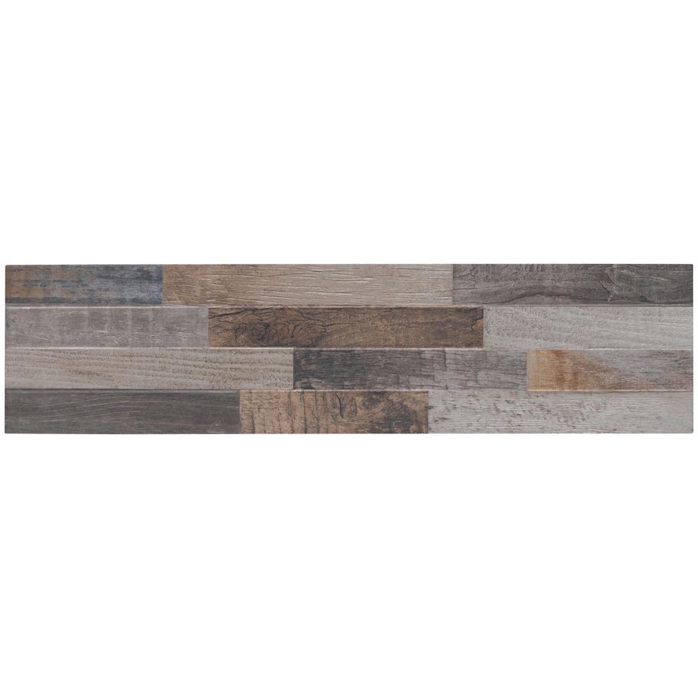 MARAZZI Montagna Rustic Bay 6 in. x 24 in. Glazed Porcelain Floor ...