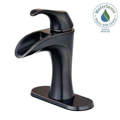 Waterfall Faucets For Bathroom Sinks. Centerset Single Handle Bathroom Faucet In Tuscan Bronze