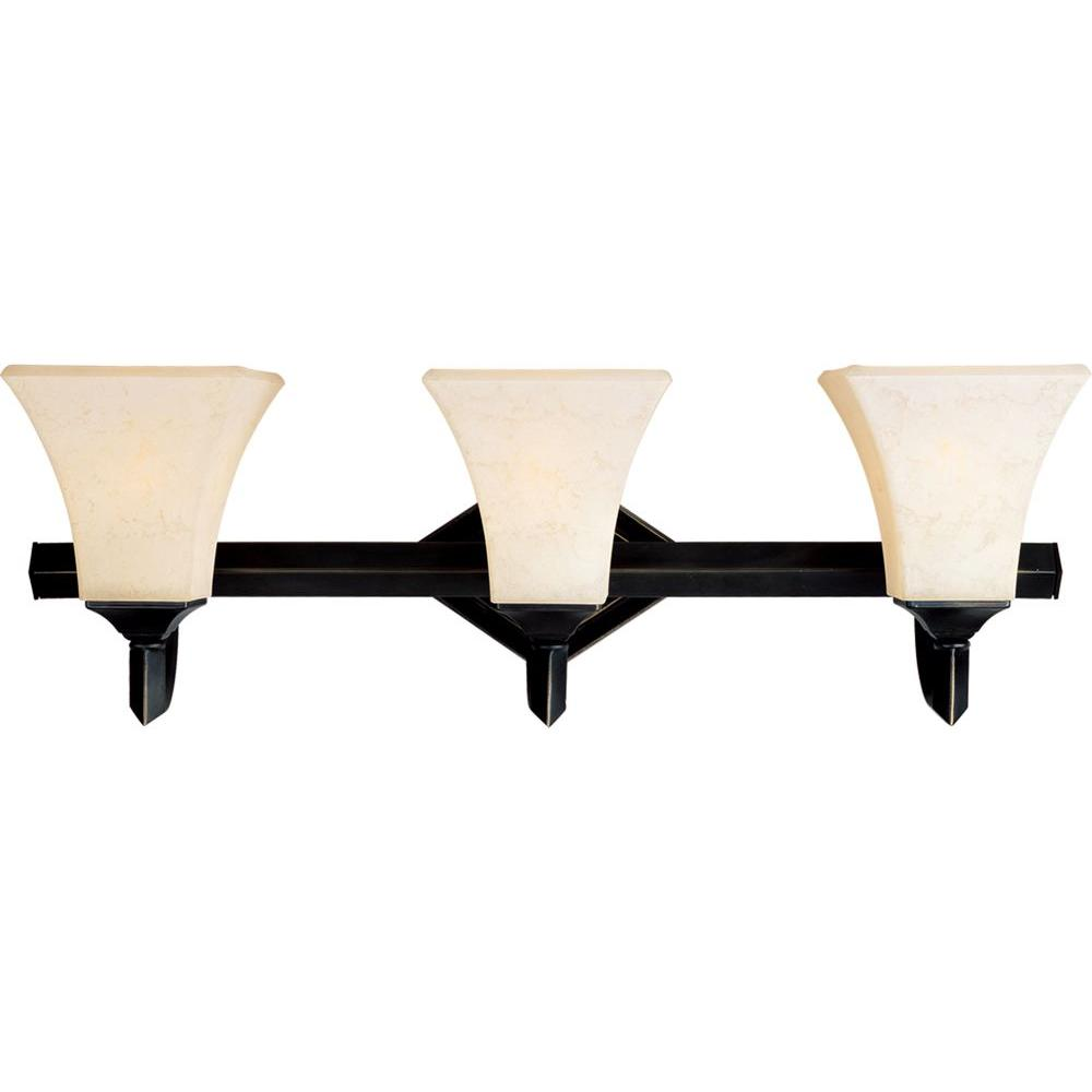 Illumine Infinite 3-Light Heirloom Brass Incandescent Bath Vanity-DISCONTINUED