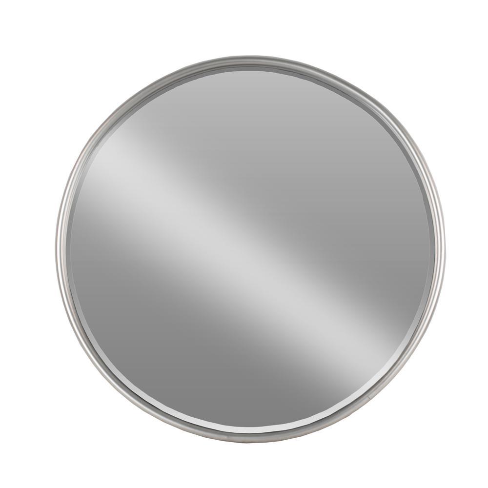 Round Gray Coated Mirror