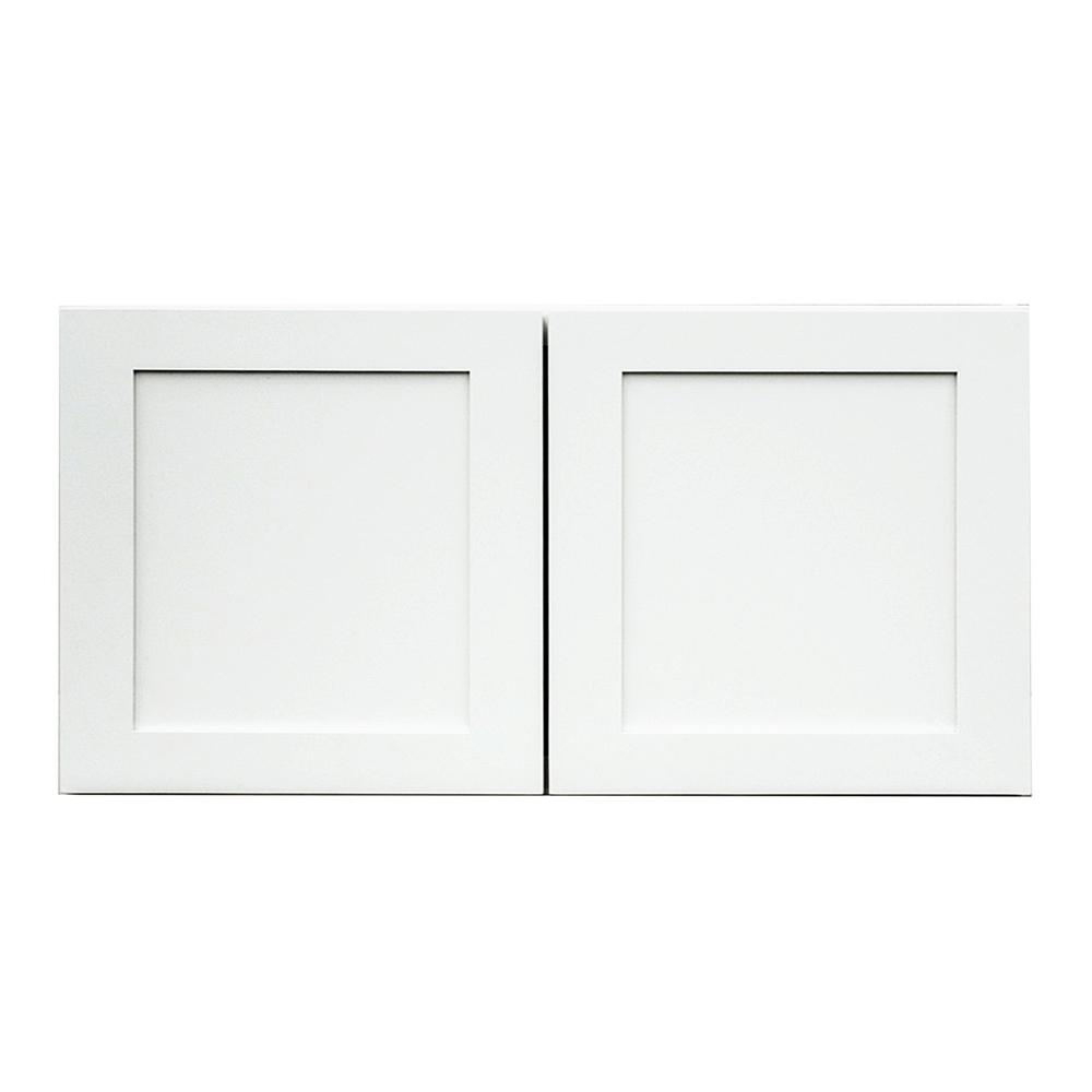 kitchen cabinet 30x24x12 krosswood doors frosted white shaker ii ready to assemble 18187