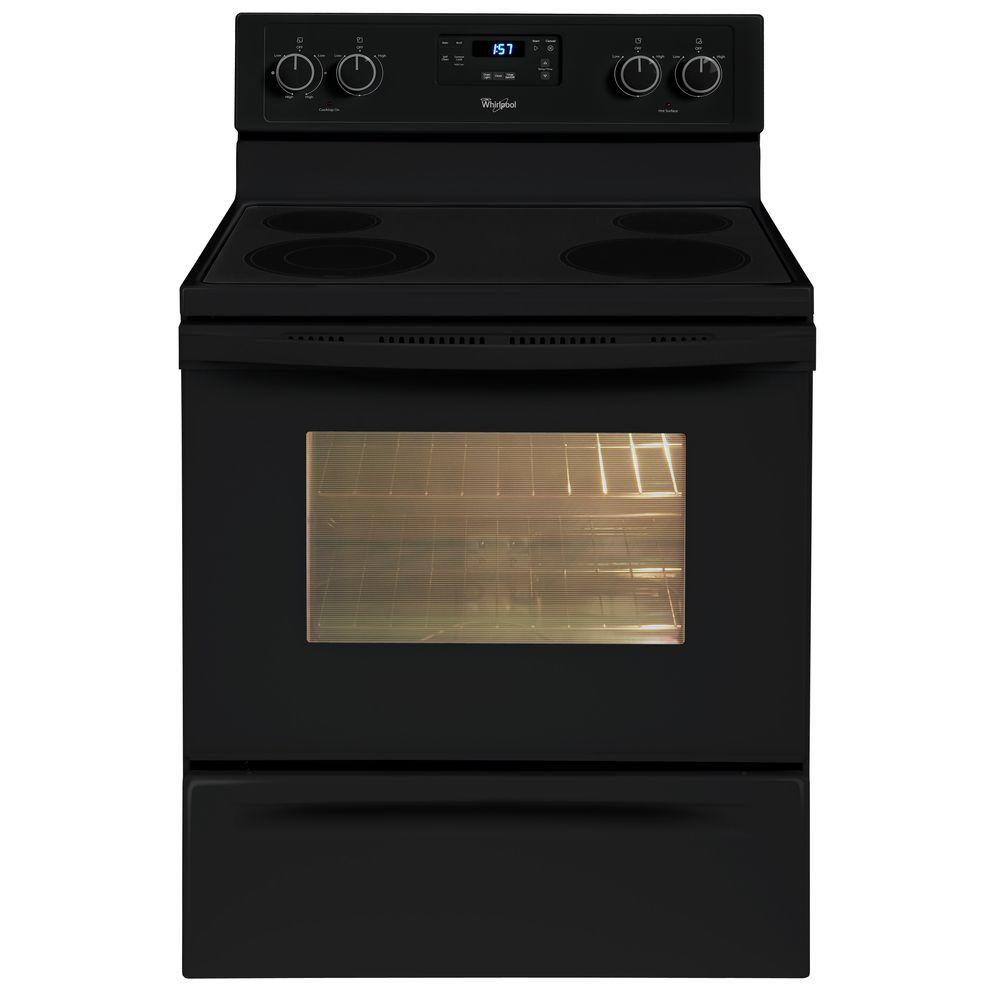 Whirlpool 4.8 cu. ft. Electric Range with Self-Cleaning Oven in Black