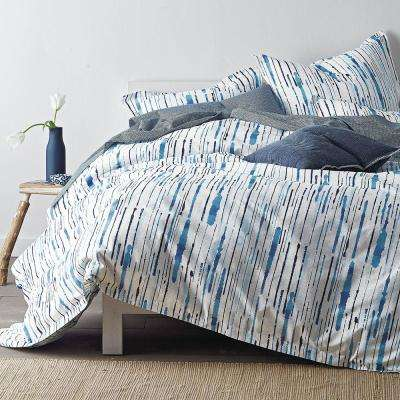 Ink Blue Queen Duvet Cover