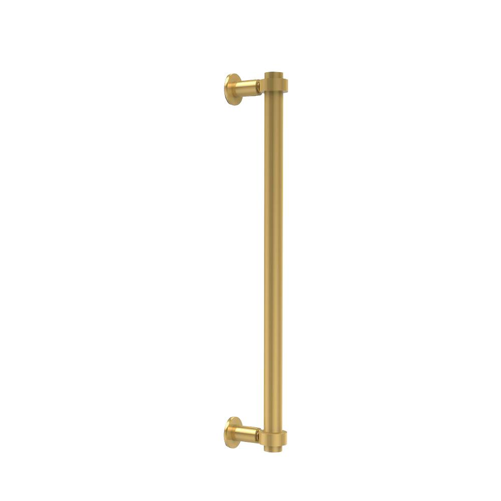 Allied Brass Contemporary 18 in. Back to Back Shower Door Pull in Unlacquered Brass