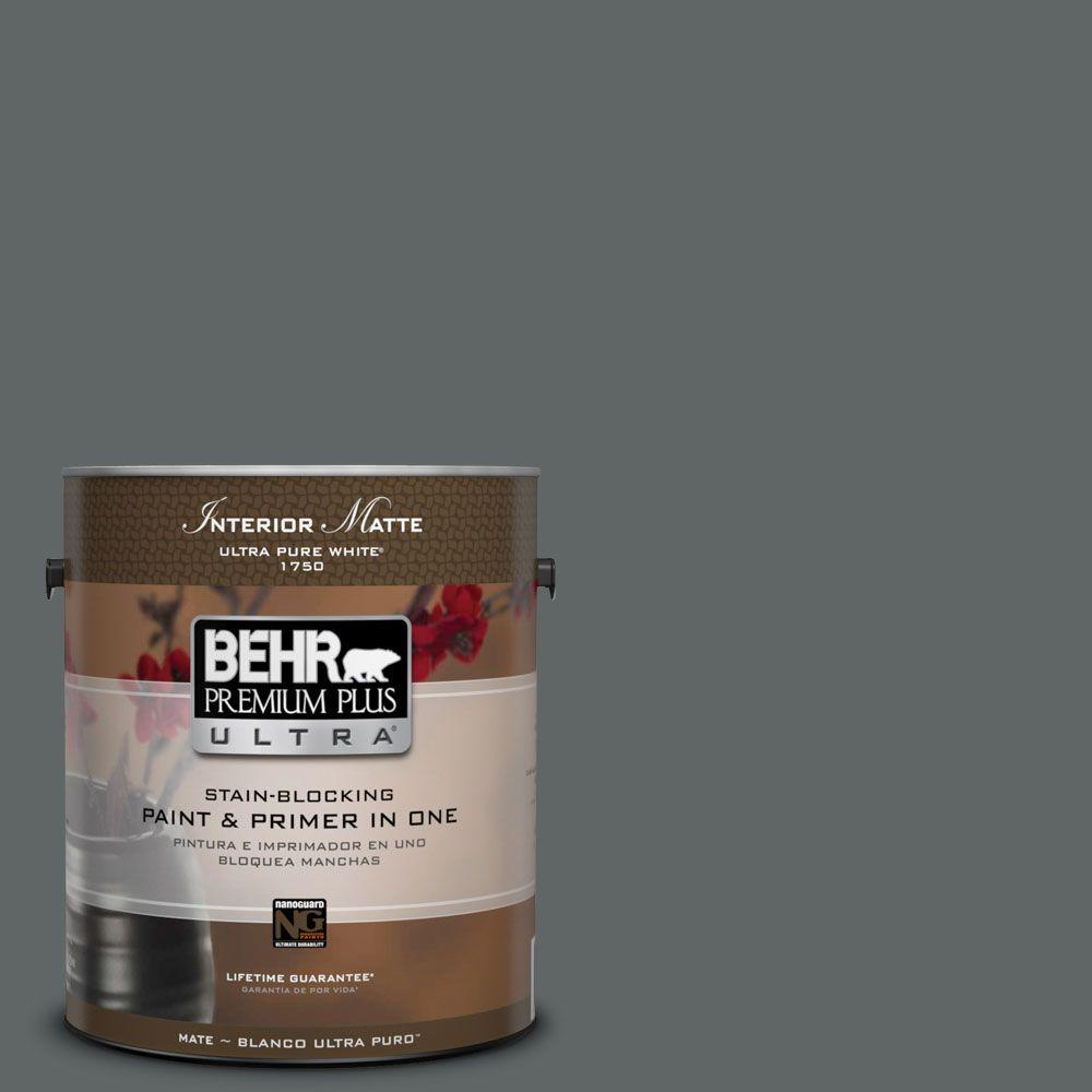 BEHR Premium Plus Ultra Home Decorators Collection 1 gal. #HDC-MD-28 Cordite Flat/Matte Interior Paint