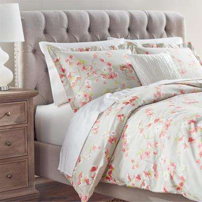 Hana Grey/Pink King Duvet