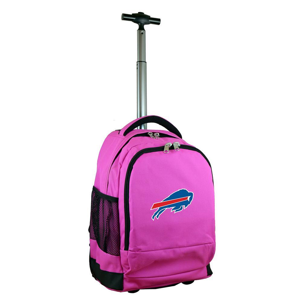 NFL Buffallo Bills 19 in. Pink Wheeled Premium Backpack