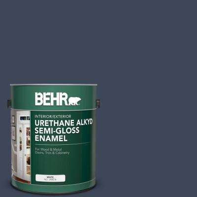 1 gal. #M500-7 Very Navy Urethane Alkyd Semi-Gloss Enamel Interior/Exterior Paint