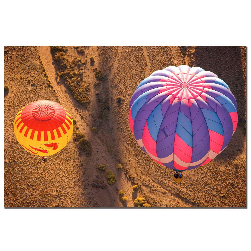 Trademark Fine Art 24 in. x 16 in. Balloon Duet Canvas Art