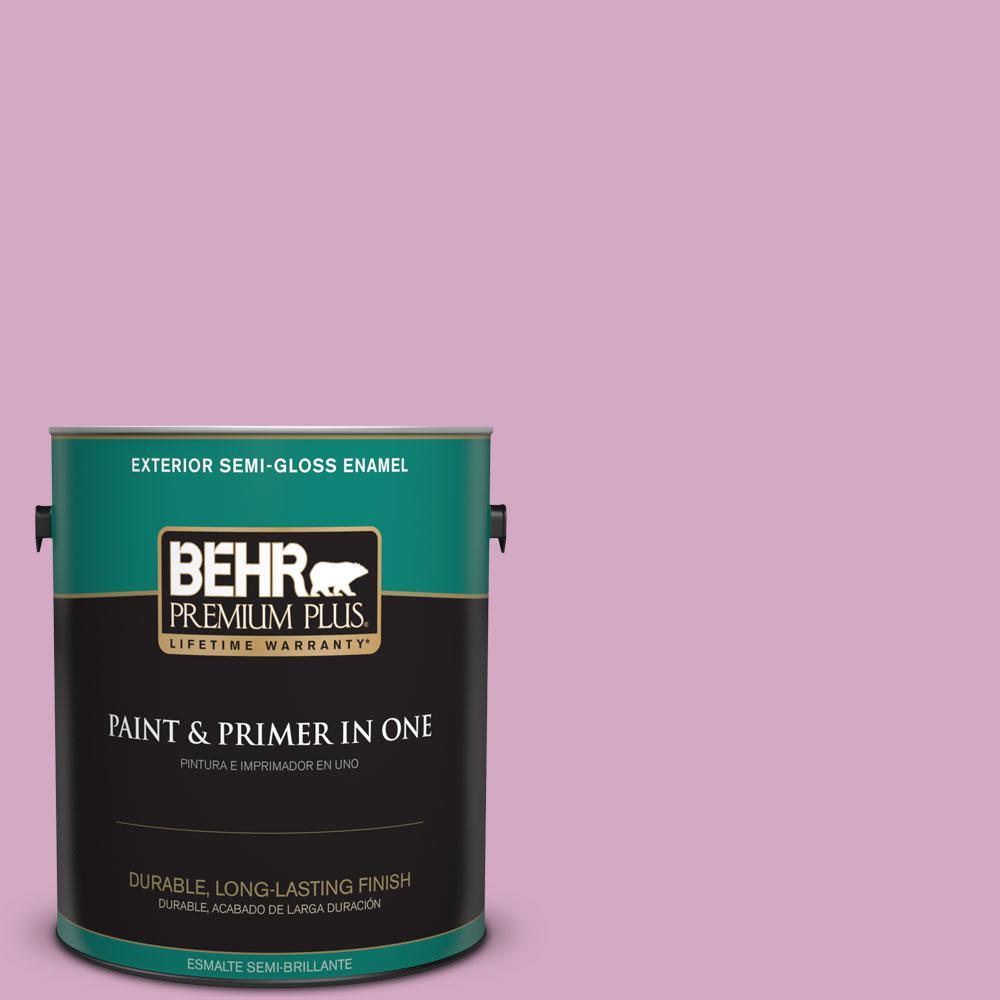 BEHR Premium Plus 1-gal. #M120-4 Heart to Heart Semi-Gloss Enamel Exterior Paint