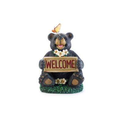 12.2 in. H Flower Power Decorative Resin Garden Mushroom