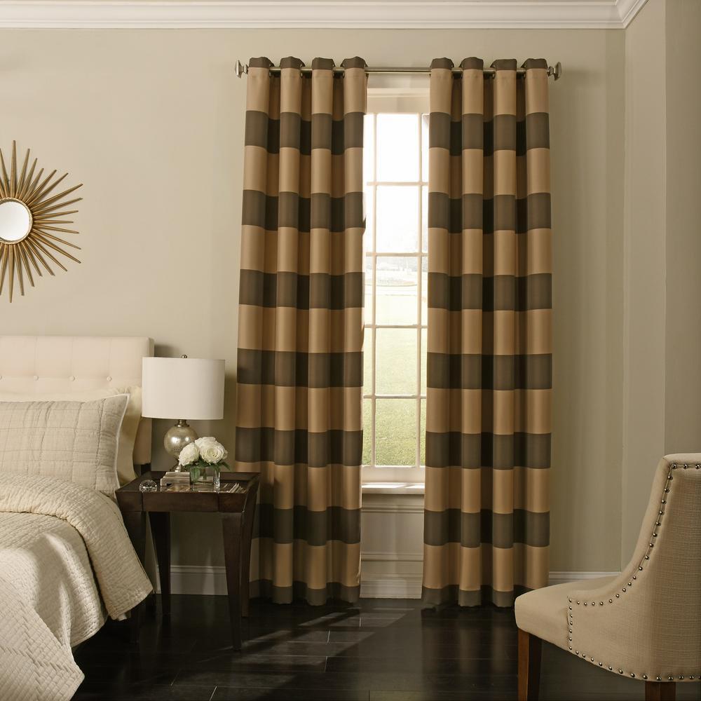 Curtainworks Sheer Kendall Chocolate Polyester Gabardine