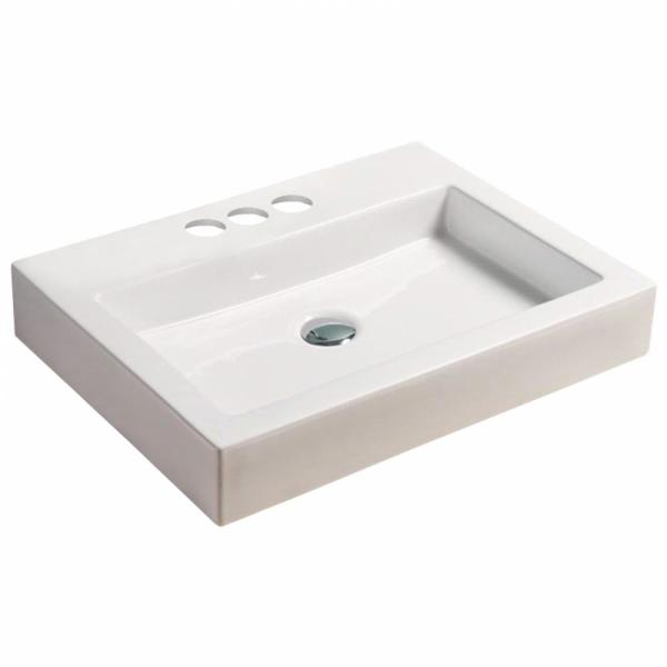 Unbranded 16 Gauge Sinks 48 In W X 18 25 In D Bath Vanity In White With Ceramic Vanity Top In White With White Basin 16gs 8472 The Home Depot