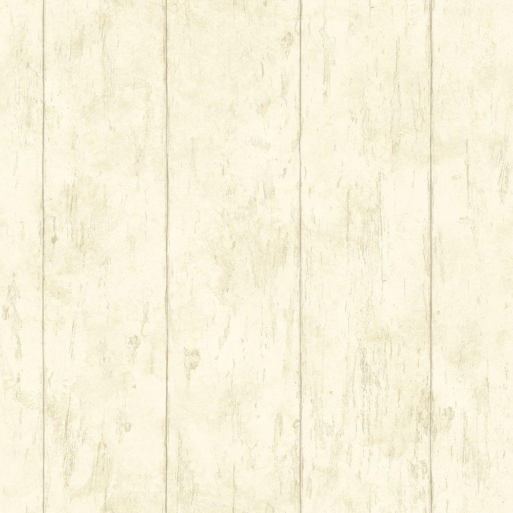 Chesapeake Reclaimed Cottage Cream Wood Wallpaper Ccb02181