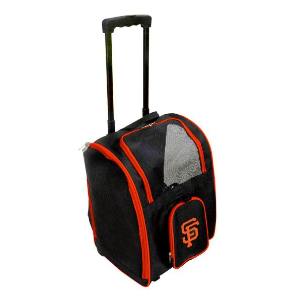 Denco MLB San Francisco Giants Pet Carrier Premium Bag with wheels
