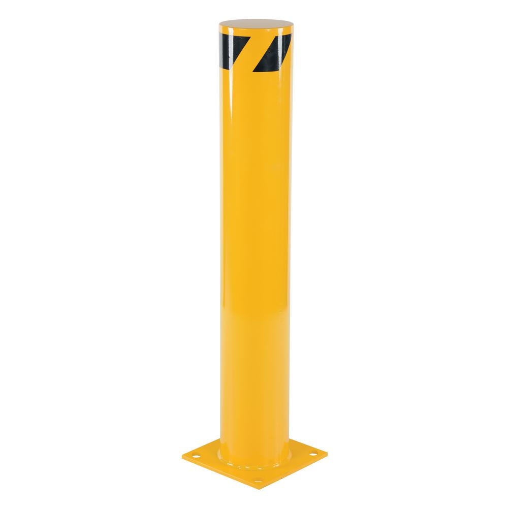 42 in. x 6.5 in. Yellow Steel Pipe Safety Bollard