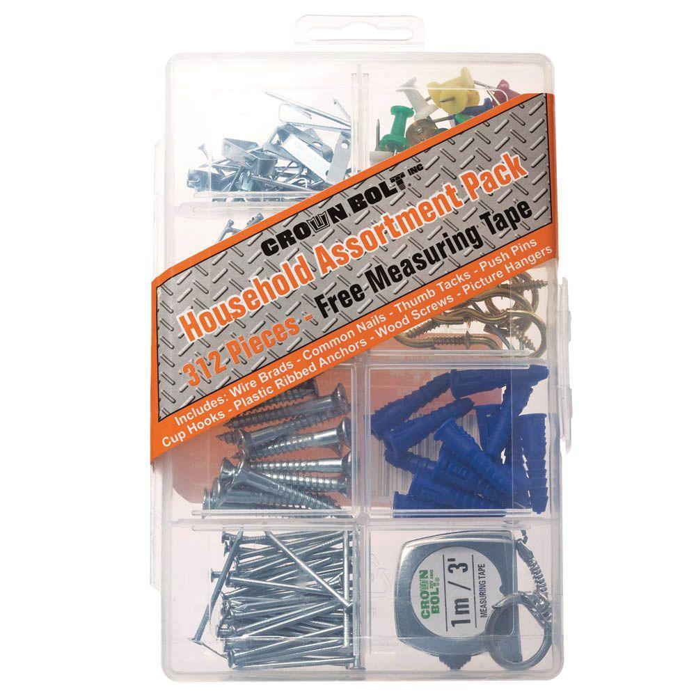 Everbilt (312-Piece) Zinc-Plated Household Assortment Pack