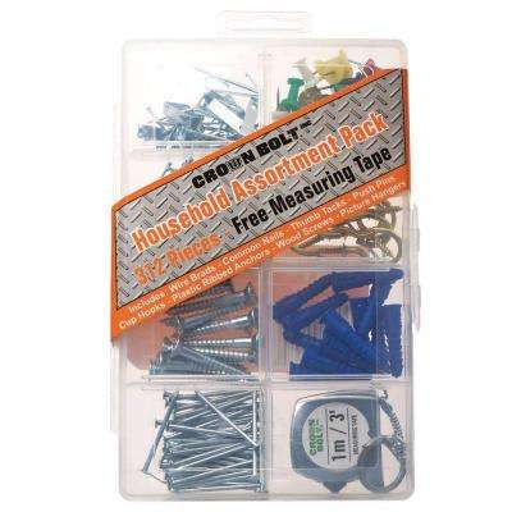Zinc-Plated Household Assortment Pack (312-Piece per Pack)